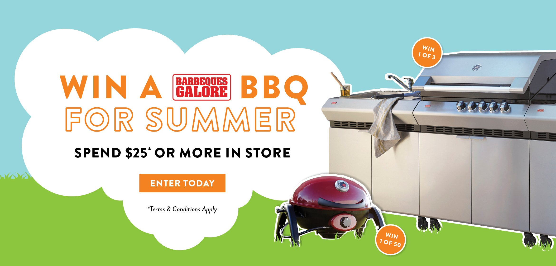 WIN A BBQ FOR SUMMER