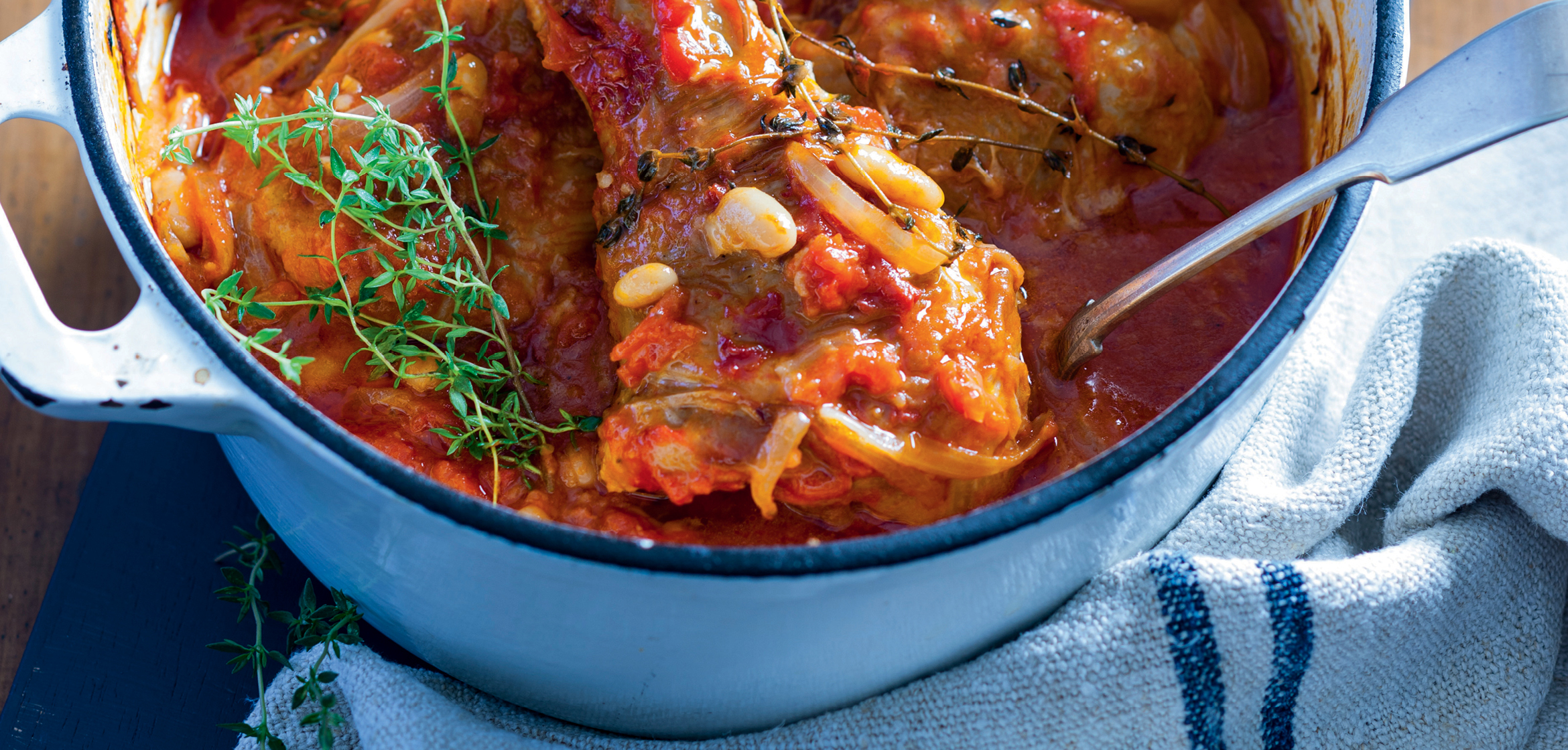 SLOW COOKED TURKEY SHANKS CASSEROLE