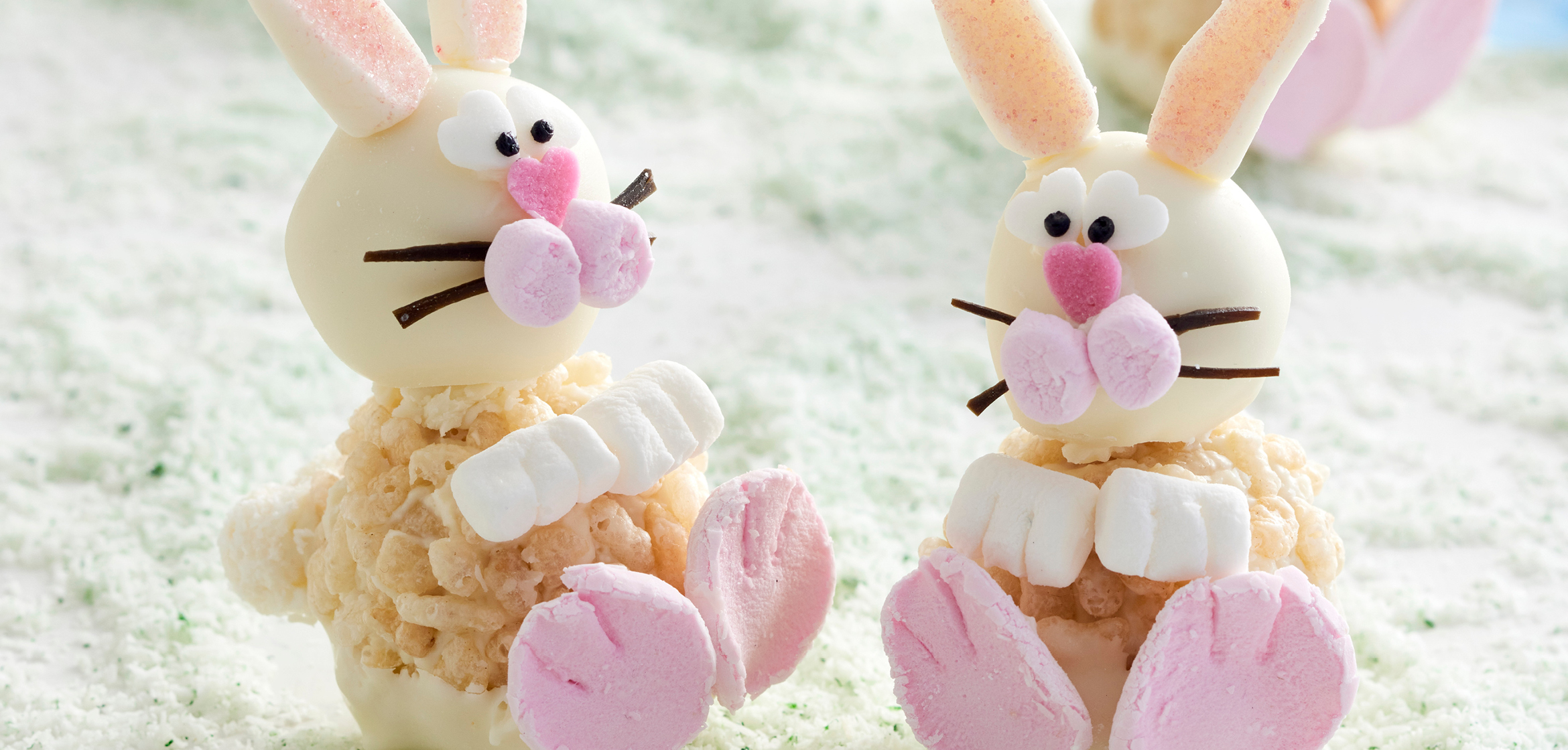 WHITE CRACKLE BUNNIES