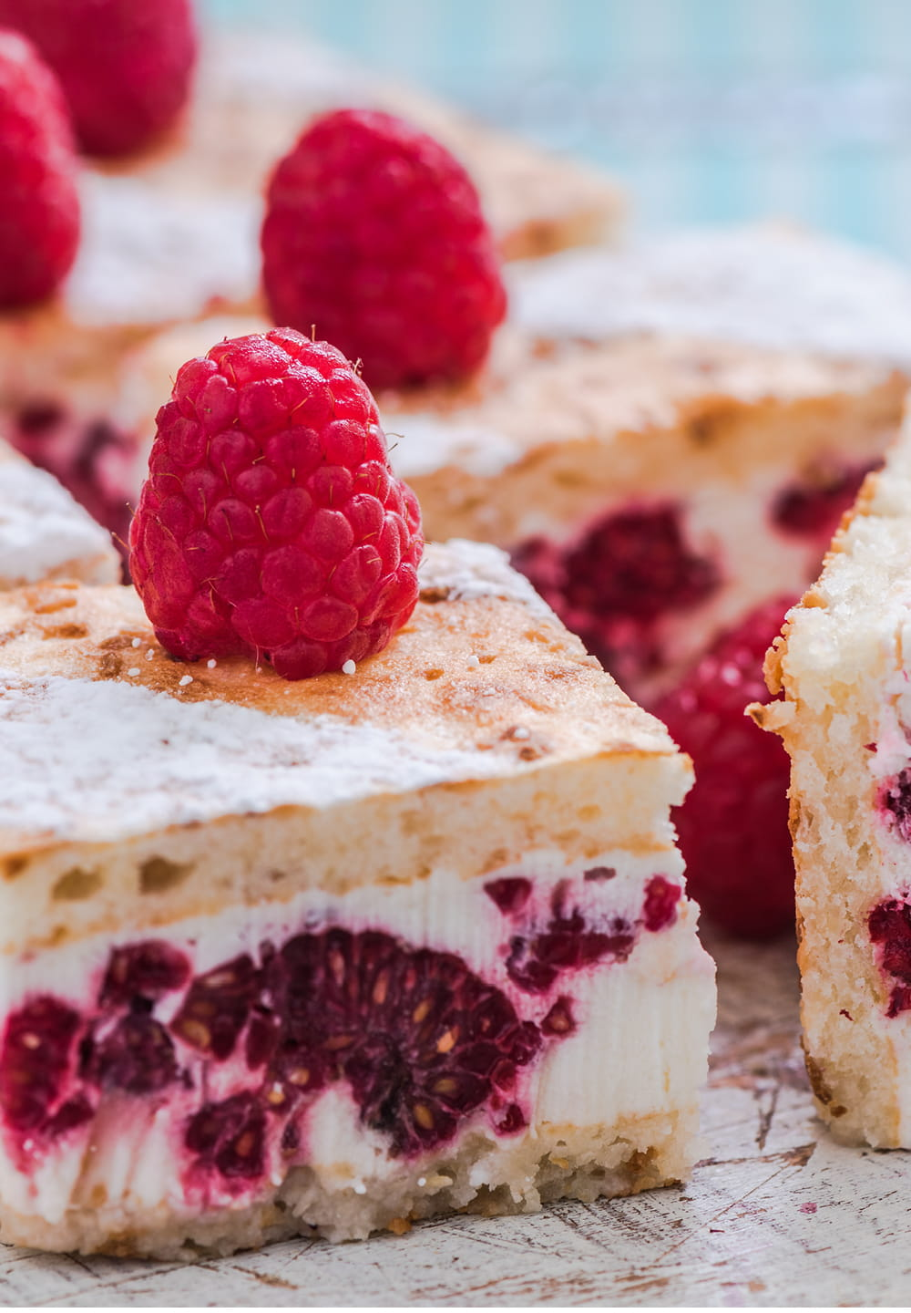 Coconut & Raspberry Jam Slice