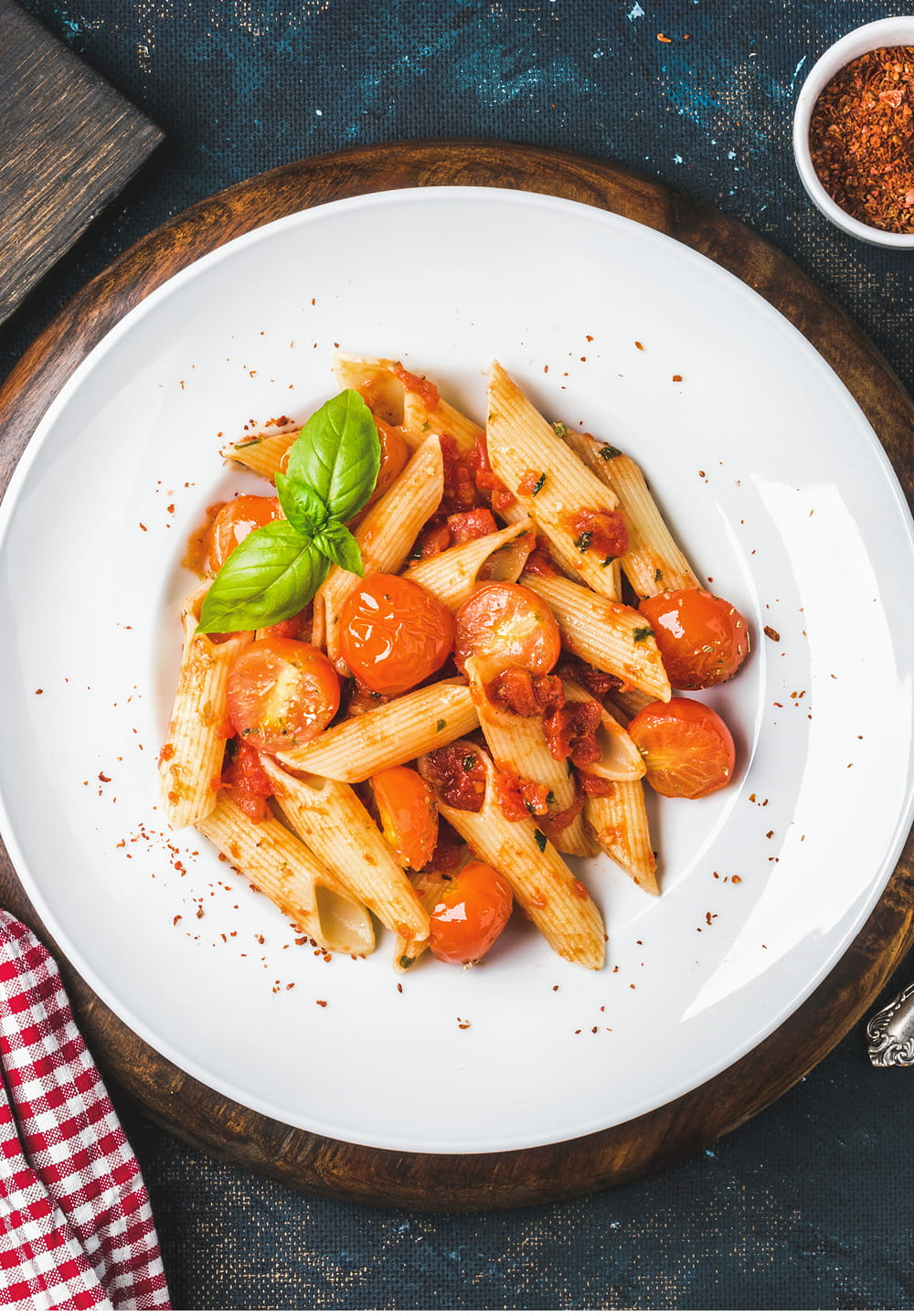Penne Pasta With Bacon & Tomato Sauce