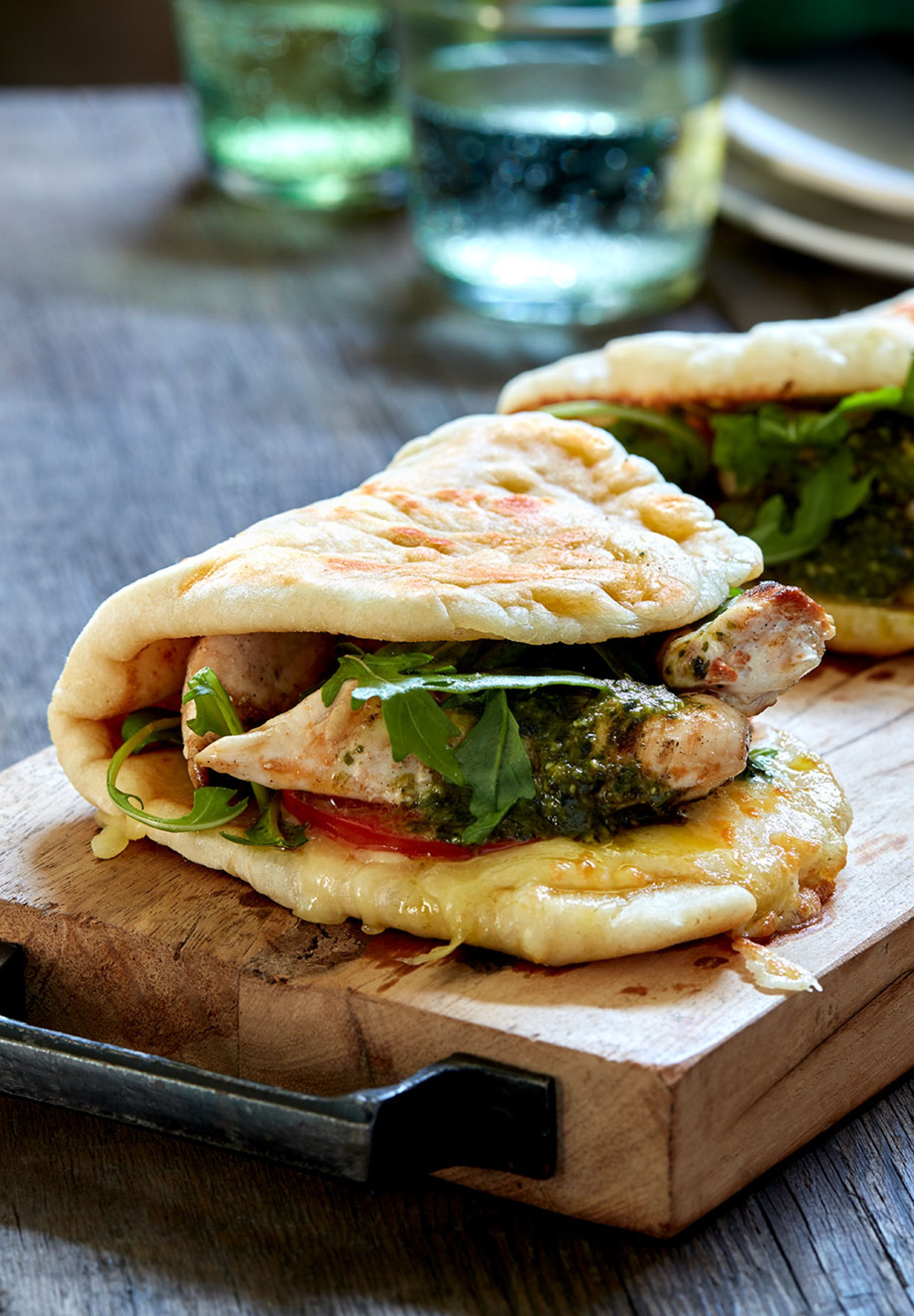 Grilled Chicken And Pesto Piadina