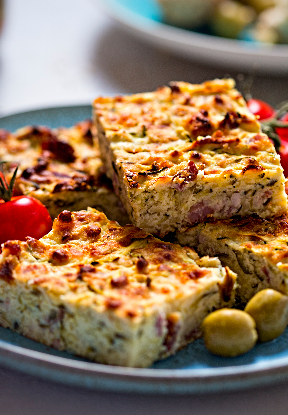 Cheese And Vegetable Slice
